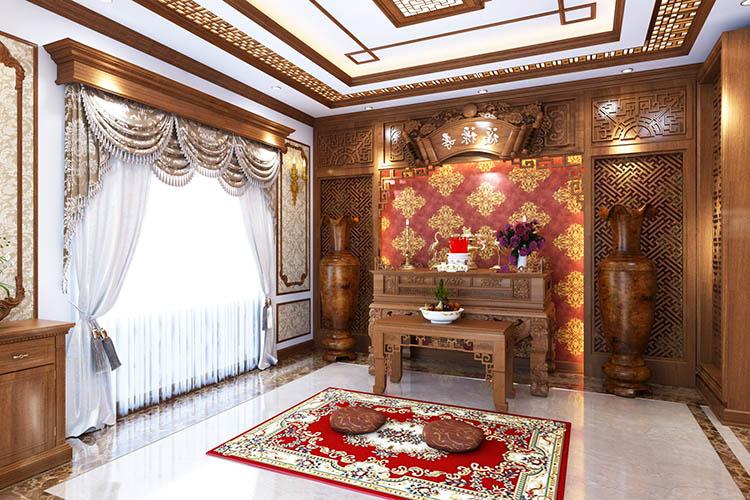 Thi công biệt thự Cổ điển bằng gỗ gõ đỏ