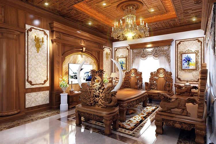 Thi công nội thất Biệt Thự Gỗ Gõ Đỏ  - xưởng sản xuất tại làng nghề nổi tiếng Đồng Kỵ -Từ Sơn Bắc  Ninh