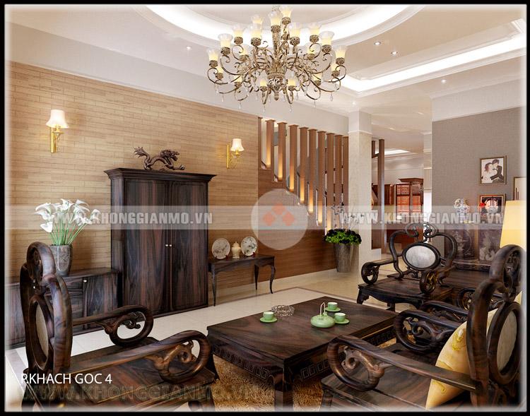 Thiết kế nội thất phòng khách Biệt thự- v4