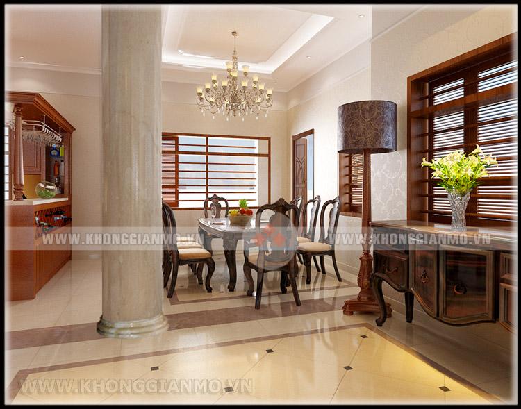 Thiết kế nội thất phòng khách Biệt thự- v5