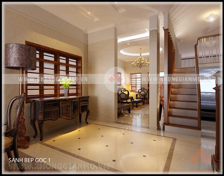 Thiết kế nội thất phòng khách Biệt thự- v6