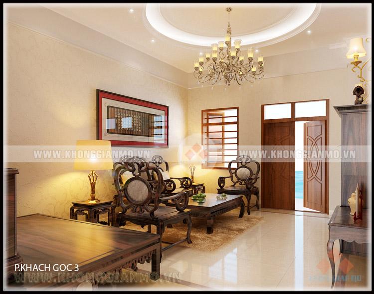 Thiết kế nội thất phòng khách Biệt thự- v2