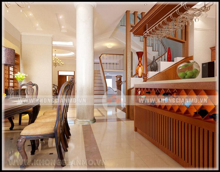 Thiết kế nội thất phòng khách Biệt thự- v3