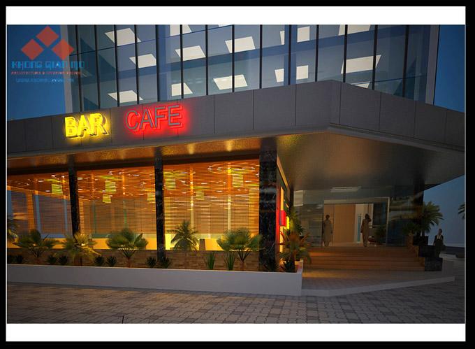 CAFE FASTFOOD KIM CHUNG - A LỊCH - PHỐI CẢNH 3D BÊN NGOÀI