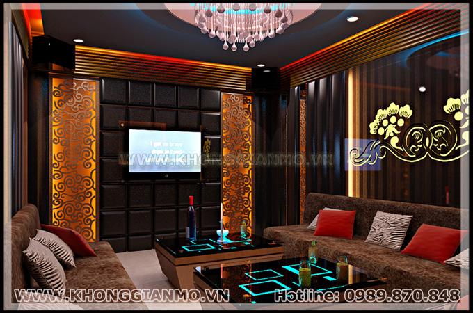 Thiết kế phòng Karaoke hay thiết kế nội thất karaoke hạng 3 sao