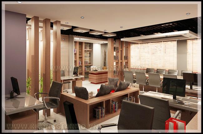 Thiết kế nội thất văn phòng - Thiết kế phòng làm việc cho nhân viên.