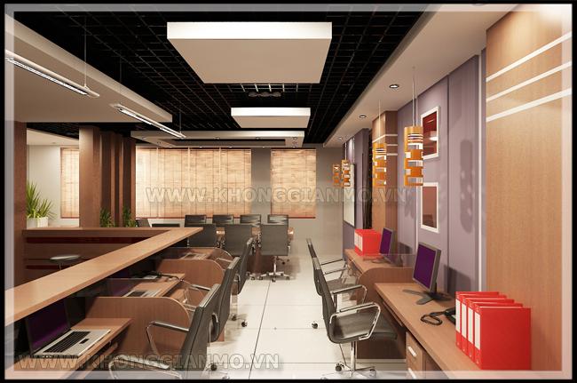 Thiết kế nội thất văn phòng - Thiết kế phòng làm việc cho nhân viên-2